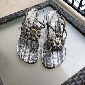 Gorgeous Tory Burch snakeskin sandals